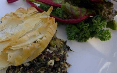 Black Sticky Rice and Spinach Pie