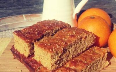 Flourless orange and chia seed cake