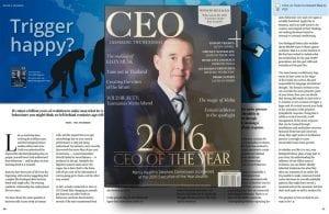 Trigger Happy by Paul von Bergen in CEO Magazine